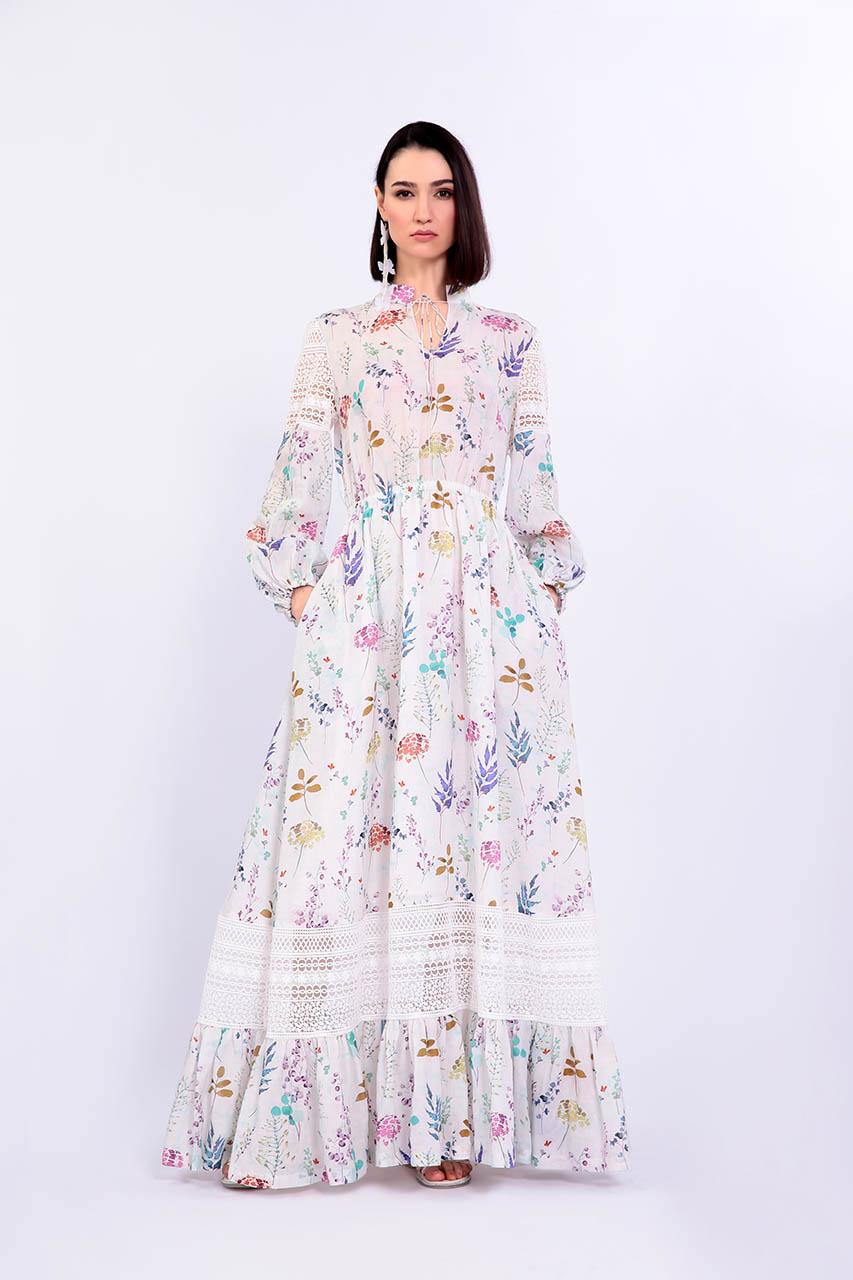 Летнее длинное платье из рами