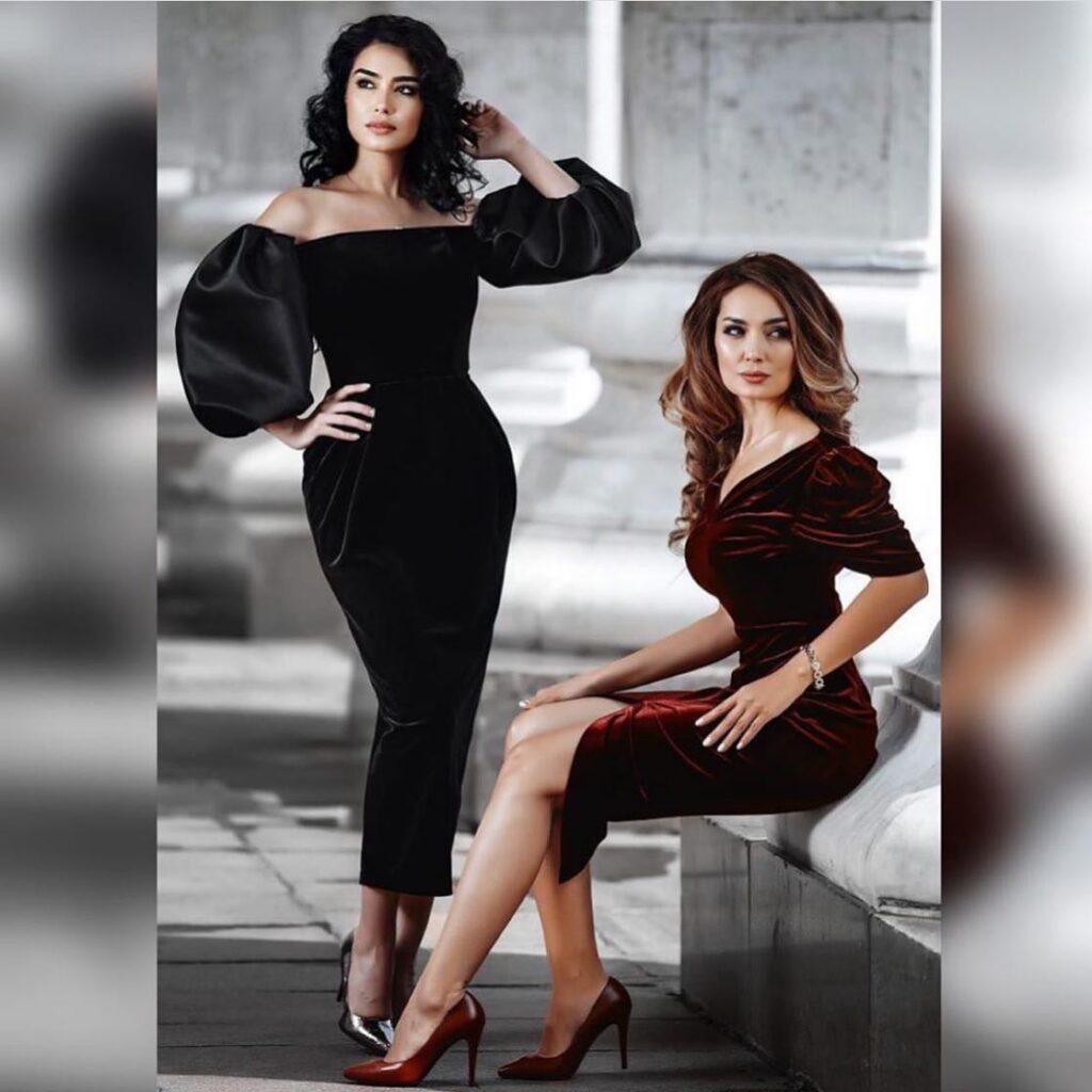 Бархатные платья модный тренд сезона 2020-2021