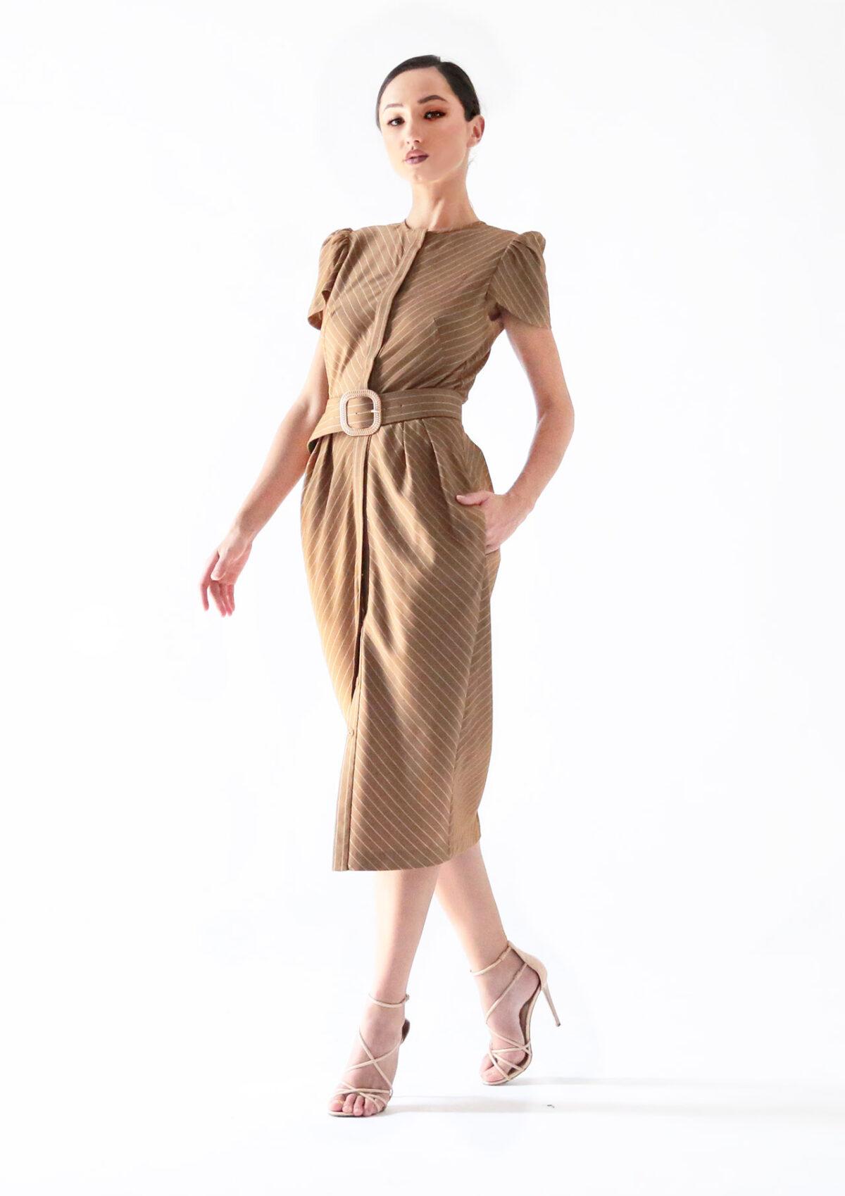 летнее платье с карманами.